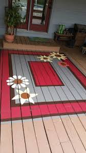 Outdoor Floor Painting Ideas Painted Deck Rug Cheaper Than Replacing Boards Decoración