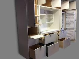 stealth kitchen modules help to create a minimalist urban