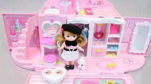 Little Houses Song Play Doh With Princess Doll House Bag Little Mimi Toys Play Doh