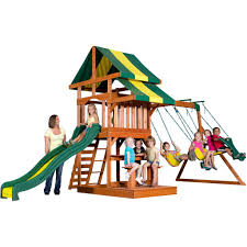 Best Backyard Swing Sets by Independence Wooden Swing Set