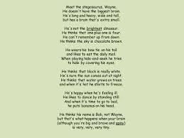 stegosaurus poem literacy lady pinterest poem teaching