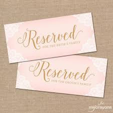 printable reserved table signs printable reserved chair sign wedding by mycrayonsdesign