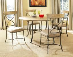metal dining room furniture chairs table with glass top hammered
