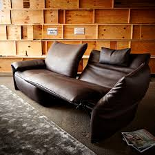 2 Seater Sofa Recliner by Contemporary Sofa Leather 2 Seater With Reclining Back