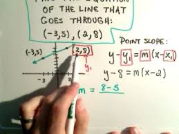 find the equation of a line using point slope form youtube