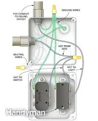 wiring a light switch and outlet together diagram add a light switch and light from an outlet wiring diagram for