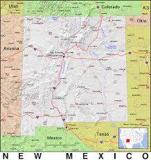 New Mexico Topographic Map by New Mexico Topo Geography Us States State Topo New Mexico Topo