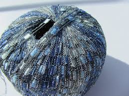 amazon com knitting fever dazzle metallic ladder yarn new color 3