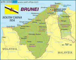 brunei map in world map of brunei map in the atlas of the world world atlas