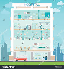 medical clinic floor plans hospital building doctor patient medical check stock vector