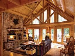 Log Homes Interiors Fantastic Log Cabin Living Room On Diy Home Interior Ideas With