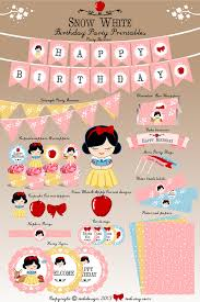 printable version of snow white cute little princess theme party printables instant download by todi
