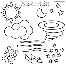 coloring pages weather symbols coloring pages
