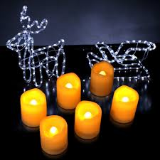 Electric Candles For Windows Decor Decorating Flameless Candles With Timer Before The Gray Siding