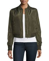 black and gold motorcycle jacket romeo and juliet couture satin bomber jacket in green lyst