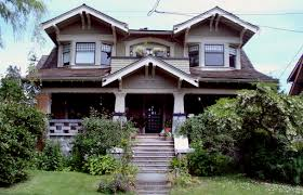 ideas green garden for craftsman style homes with gable roof plus