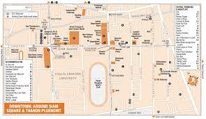 around siam square and thanon ploenchit map bangkok