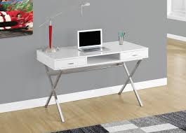 48 Office Desk Modern White Chrome 48 Office Desk Officedesk