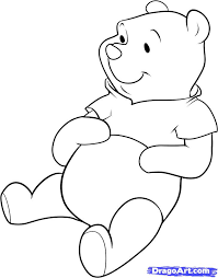 draw pooh bear step step disney characters cartoons