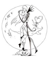 jack and sally coloring pages regarding really encourage in