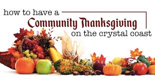 to a community thanksgiving on the coast