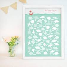 wedding wishes nautical nautical wedding guest book alternative with fish in for