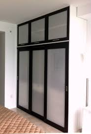 Sliding Closet Doors Miami Sliding Doors Wenge Opal Resin Insert Contemporary Closet