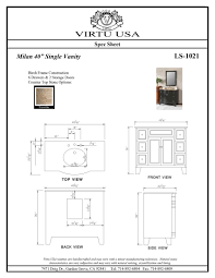 home decor bathroom vanity sizes chart arts and crafts wall