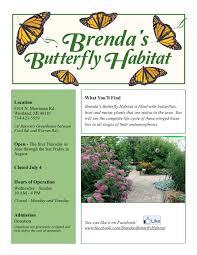 warren family garden center brenda u0027s butterfly habitat