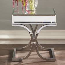 mirage mirrored accent table wayfair