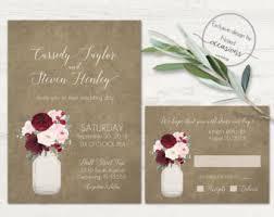 jar wedding invitations jar wedding invitations etsy