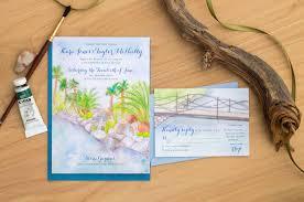 wedding invitations san diego painted weddings watercolor wedding invitations
