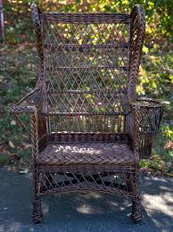 Wingback Wicker Chair Antique Wing Back Wicker Chair At 1stdibs
