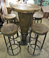 rustic pub table and chairs morella wood pub table 599 1225 51003416 i celadonathome com