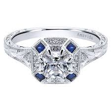 platinum vintage rings images Vintage platinum cushion cut halo diamond a quality sapphire jpg