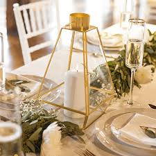 wedding table centerpieces personalized geometric candle lantern table centerpiece