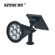 color changing outdoor lights szyoumy 10pcs 7 led solar spotlight auto color changing outdoor