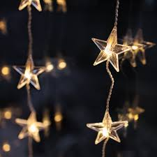 Fairy Lights Ikea by 40 Led Warm White Star Curtain Light Christmas Window Lights