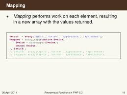 php array map anonymous functions in php 5 3 matthew weier o phinney