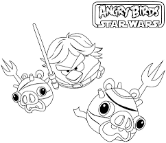 angry birds star wars coloring pages free printable coloring home