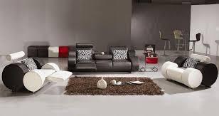 Unique Leather Sofa Unique Black Leather Sofa Set With White Accents Carolina