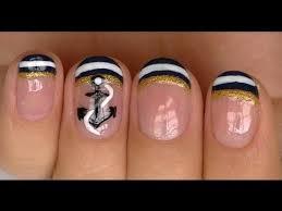 nautical nail design youtube