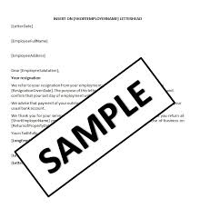 resignation letter due to end of contract resume layout 2017