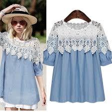2017 2015 new women summer clothes denim lace dress xl 5xl plus