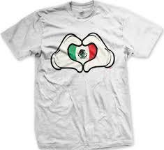 Mexican Flag Cartoon Mexican Flag Cartoon Hands Heart Mexico Brown Pride Mens T Shirt