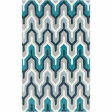 Aztec Area Rug Art Of Knot Orleans Hand Tufted Plush Geometric Area Rug Teal