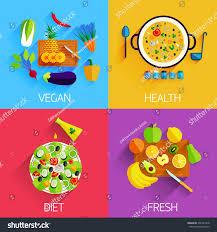 vegetarian food diet fresh healthy food stock vector 332241818