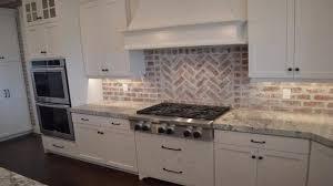 blue tile backsplash kitchen white and brown backsplash faux brick backsplash beadboard
