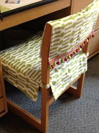 my roommate u0027s mom made us these awesome desk chair covers she