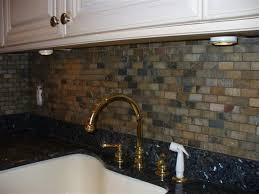 copper backsplash tiles kitchen surfaces pinterest you can make stone kitchen backsplash with slate tiles